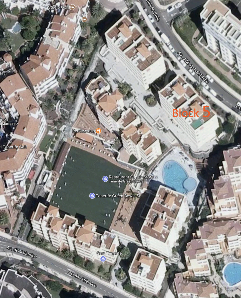 map winter gardens golf del sur tenerife holiday apartment to rent